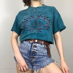 Vintage 90s Single Stitch Arizona Cactus T-Shirt